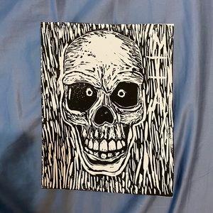 Handmade Skeleton Art Print